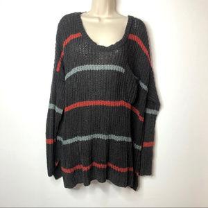 Free People Oversized striped sweater